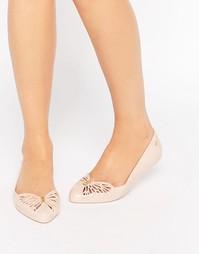 Остроносые туфли на плоской подошве Zaxy Free - Телесный