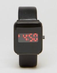 Квадратные цифровые часы ASOS - Черный