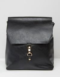 Рюкзак с застежкой спереди ASOS - Черный