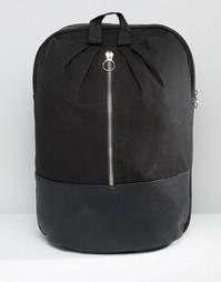 Рюкзак с металлической молнией спереди ASOS - Черный