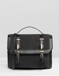 Портфель с металлической отделкой ASOS - Черный