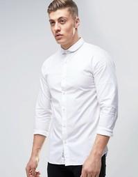 Рубашка слим с закругленным воротником Produkt - Белый
