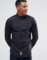 Рубашка узкого кроя с воротником на пуговицах Produkt - Черный