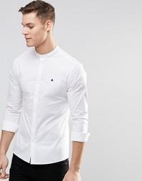 Белая облегающая рубашка с воротом на пуговице ASOS - Белый