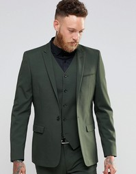 Пиджак суперзауженного кроя цвета хаки ASOS - Хаки
