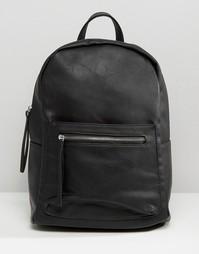 Рюкзак с карманом на молнии Pieces - Черный
