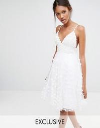 Платье с объемной декоративной отделкой A Star Is Born - Белый
