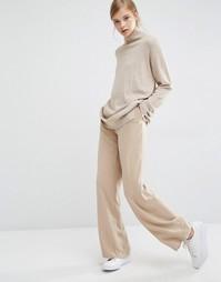 Широкие брюки с завышенной талией Paisie - Светло-карамельный