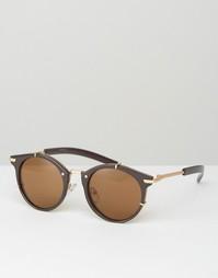 Солнцезащитные очки в круглой бронзовой оправе Jeepers Peepers