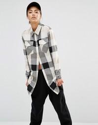 Клетчатая рубашка с карманами Daisy Street - Мульти