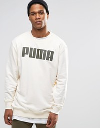 Puma Relaxed Longline Sweat In Cream - Кремовый