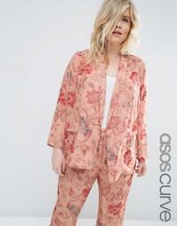 Пижамная блузка с цветочным принтом ASOS CURVE - Цветочный рисунок