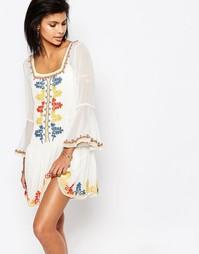 Платье с вышивкой Tularosa Creseda - Цвет масла