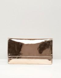 Клатч цвета металлик ASOS - Розовое золото