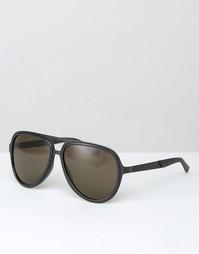 Солнцезащитные очки-авиаторы Gucci - Черный
