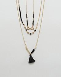 Ожерелье в несколько рядов с кисточкой Ashiana