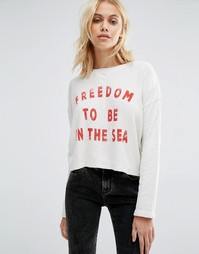 Укороченный свитшот с открытой спиной и надписью Freedom Billabong