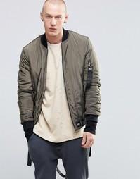 Куртка-пилот с отцепляемыми ремешками Sixth June - Хаки