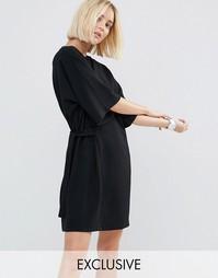 Цельнокройное платье с завязкой House Of Sunny - Черный