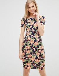 Трикотажное облегающее платье с принтом Poppy Lux Orianna