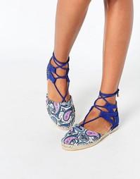 Эспадрильи на шнуровке Daisy Street - Кобальтовый синий
