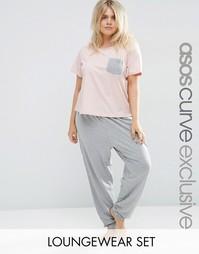 Базовая футболка и леггинсы в стиле casual от ASOS CURVE