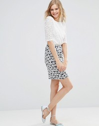 Poppy Lux Pippa Rose Jersey Tube Skirt