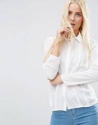 Блузка со складками спереди ASOS - Слоновая кость