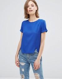 Топ с декоративной кромкой Poppy Lux Ronelle - Кобальтовый синий