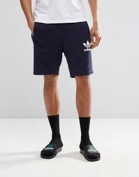 Шорты с трилистником Adidas Originals AY7731 - Синий