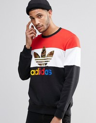 Свитшот с круглым вырезом adidas Originals Block It Out AY8614