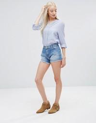 Джинсовые шорты в винтажном стиле Pepe Jeans Nova - Синий