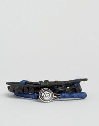 Icon Brand Rope Bracelet Pack In Navy - Темно-синий