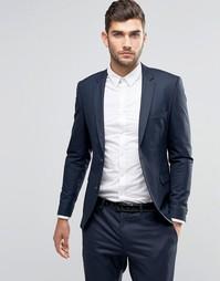 Jack & Jones Premium Skinny Suit Jacket In Navy - Темно-синий
