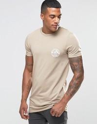 Длинная облегающая футболка с принтом Welcome To Miami на груди ASOS