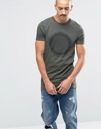 Удлиненная футболка с принтом ASOS - Forest night