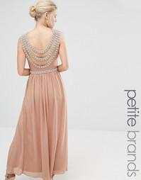 Платье макси с отделкой сзади TFNC Petite Wedding - Brush