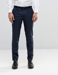 Темно-синие облегающие брюки Jack & Jones Premium - Темно-синий