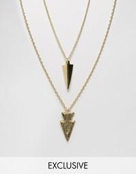 2 ожерелья с подвеской в виде стрелы Designb - Золотой