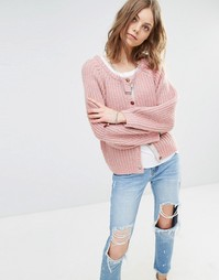 Maison Scotch Chunky Knit Cardigan - 3g pink