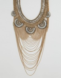 Броское ожерелье ALDO Borgdanoff - Золотой