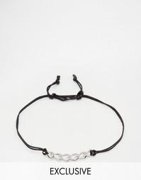Плетеный браслет с цепочкой Designb