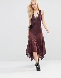 Платье-сорочка Free People Lila - Баклажан