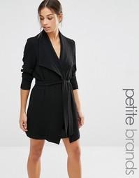 Пальто с поясом Vero Moda Petite - Черный