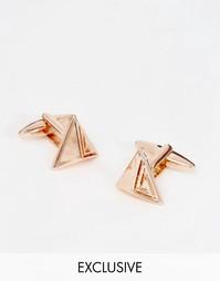 Золотистые треугольные запонки Designb - Золотой