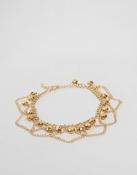 Богемный браслет на ногу Reclaimed Vintage - Золотой