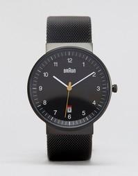 Классические черные часы Braun - Черный