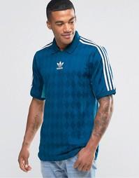 Трикотажная футболка в винтажном стиле Аdidas Originals AJ7865 - Синий