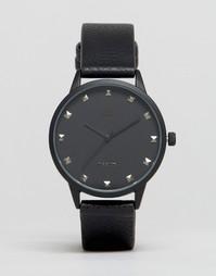 Черные часы с заклепками ASOS - Черный