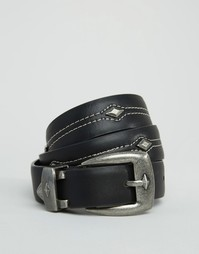 Ремень для джинсов с треугольной отделкой ASOS - Черный